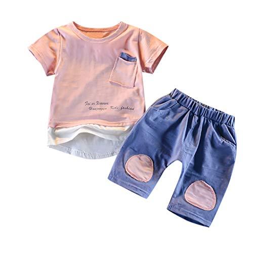 Delfine T-shirt Sweatshirt (Julhold Kleinkind Kinder Baby Jungen Freizeit Nette Tasche Kurzarm T Shirt Tops Shorts 2 STÜCKE Outfits Set 0-3 Jahre)