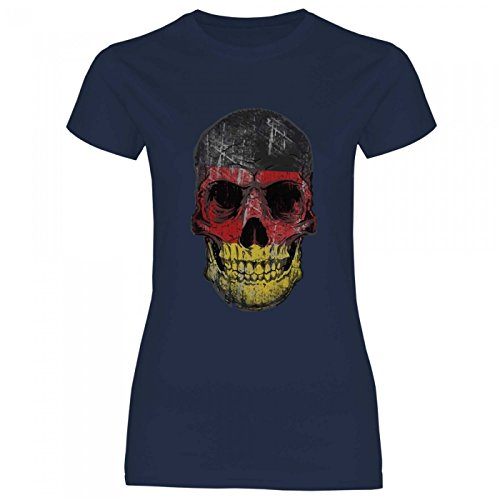 09734d21cf34 Royal Shirt df14 Women s T-Shirt Germany Germany Flag   WM Em Soccer Skull  Jersey