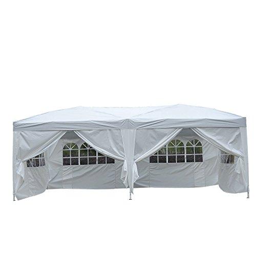 Outsunny® 3x6 m Faltpavillon Pavillon Faltzelt Partyzelt Gartenzelt inkl. 6 Seitenteile