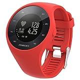 Polar M200 Sisit Bande de montre de rechange en silicone souple pour montre Polar M200 Fitness 235mm de long bracelet en caoutchouc / bracelet (Rouge)