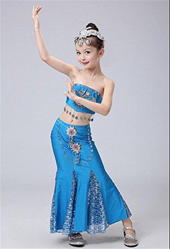 spectacles de danse Girl Costume / costumes de scène pour enfants Blue