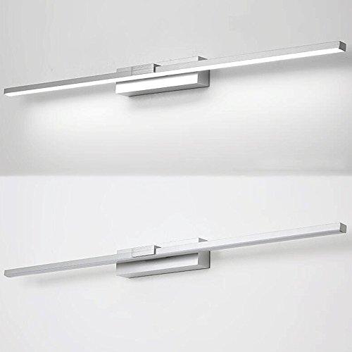 Specchio luce anteriore in alluminio a led impermeabile e anti nebbia di luce variabile colori - Alluminio lucidato a specchio ...