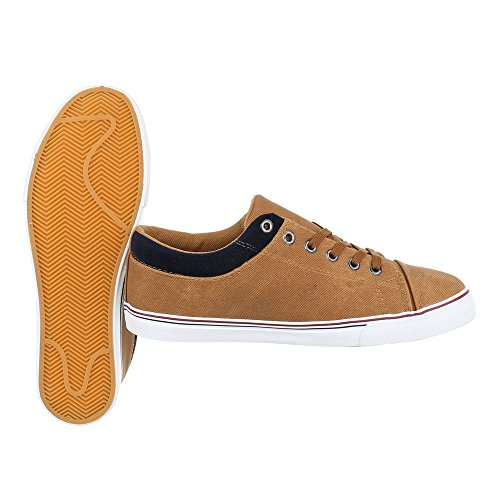 Ital-Design , Chaussures à lacets homme Camel