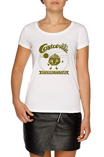 The original castroville artichoke festival - dustins shirt in stranger things! maglietta t-shirt bianco donna dimensioni xxl | women's white t-shirt size xxl
