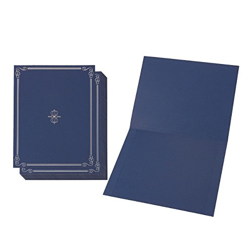 Baumwollmusselin Zertifikat Halter-Diplom, Dokument Cover für A4Ti Award ZERTIFIKATE, blau, 22x 30,8Zentimeter -