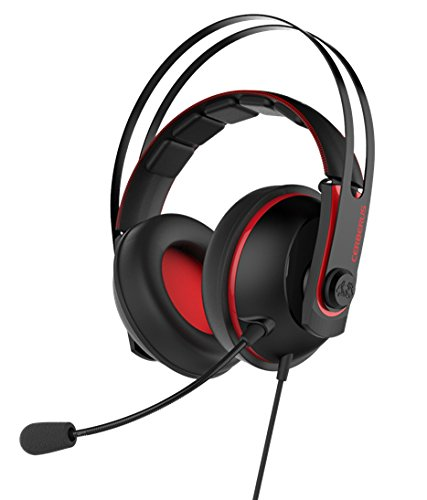 ASUS CERBERUS V2 GAMING HEADSET (RED) 41xZIGxzknL
