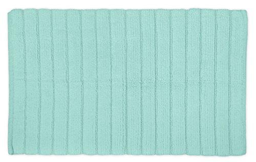 DII OCEANIQUE Maschinenwaschbar 100% gewebte Baumwolle Gerippter Spa Bad Teppich, weich und saugfähig, nahe Vanity, Badewanne oder Dusche, 43,2x 61cm aubergine, Mint, 21x34