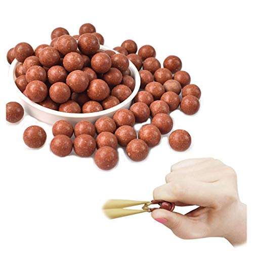 GEGEQ® Harte Tonkugel Schleuderball Perlen Schlammkugel Sicherheit Schlammpille Katapult Schießscheiben Übungsschlammball Schleuderliebhaber mit schöner Geschenktüte -