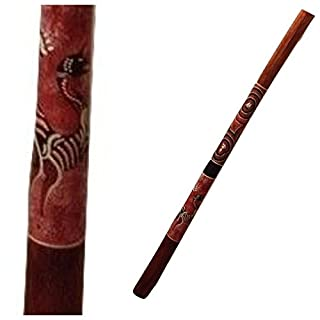 Teak Didgeridoo Hand Painted