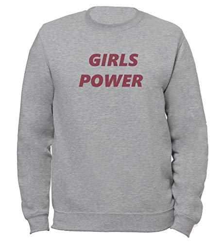 Girls Power Poder Niñas Feminism Unisexo Hombre Mujer Sudadera Gris | Unisex Women's Men's Sweatshirt