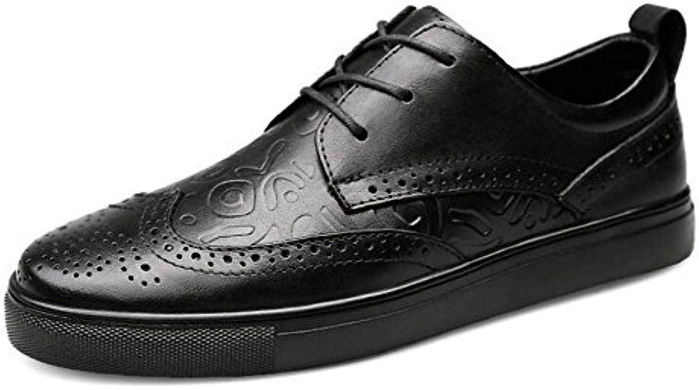 GLSHI Zapatos Ocasionales de los Hombres Zapatos Respirables Tamaño Grande Británico Verano Nueva Moda (Color
