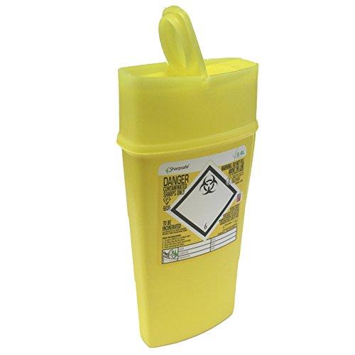 0.6L Sharpsafe Jaune Bio Hazard Lame Seringue Aiguille Clinique Labelled déchets perforants Box bacs