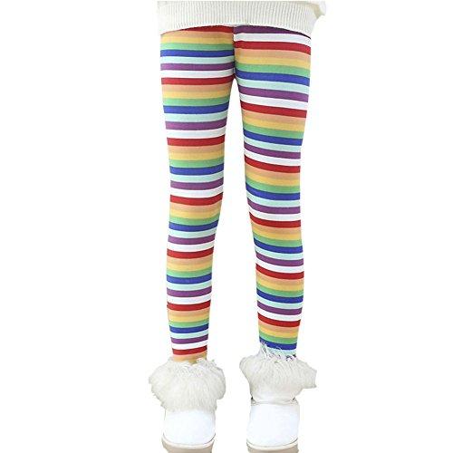 Hankyky Baby Kinder Fleece Hosen Mädchen Leggings Strumpfhosen Girls Trainingshose Herbst Winter Warm Pants(95-150cm/2-12 Jahre) (Flat-front-hose Gefüttert)
