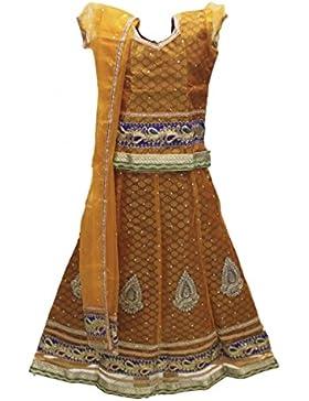 GCC3124 Chaniya Choli di Orange e Maroon Girl Navratri Bollywood Chaniya Choli
