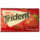 Trident Sugar Free Gum Strawberry Twist, 18stick