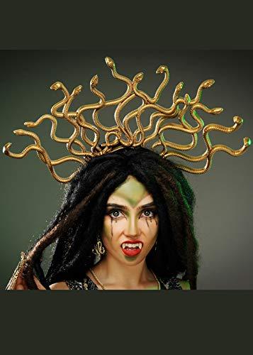 Mythen Und Legenden Fancy Dress - 8in1 Medusa Gold Snake Headpiece