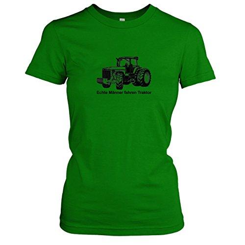 TEXLAB - Echte Männer fahren Traktor - Damen T-Shirt Grün