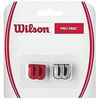 Wilson Pro Feel Logo-Vibrationsdämpfer, für Tennisschläger, 2er Pack