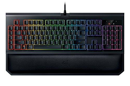 Razer Blackwidow Chroma V2 Gaming Tastatur (Taktile und Leise, Mechanische Orange Switches, RGB Beleuchtet und Voll programmbierbar mit 5 Macrotasten)