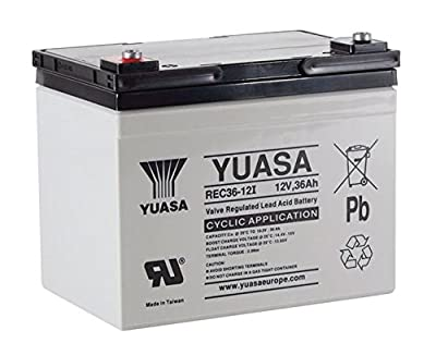 Yuasa 36Ah Golf Trolley / Mobility Scooter Battery - REC36-12I, Replaces YPC33-12
