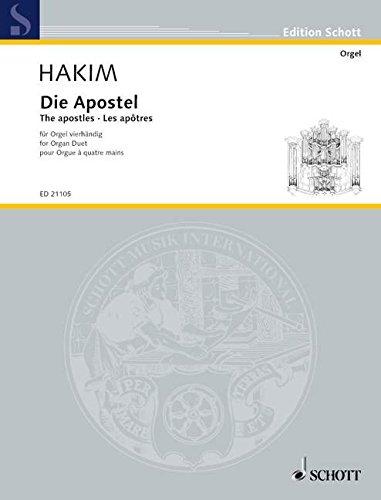 Die Apostel: Meditationen nach Holzschnitten von Lucas Cranach dem Älteren. Orgel 4-händig. (Edition Schott)