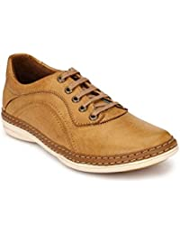 Levanse New Tan Leather Casual Shoes For Men / Boys.