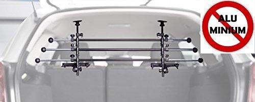 Original IMPAG® Kofferraumgitter Safeguard | 85-150 cm | Hundeschutzgitter oder Gepäckgitter | Trenngitter aus Metall | Stufenlos einstellbar| Universell für alle Autos | Sicherheitsgeprüft -