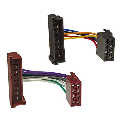 tomzz Audio 7015-001 Radio Adapter Kabel passend für Ford, Mazda 121, Jaguar auf 16pol ISO Norm Ford Adapter