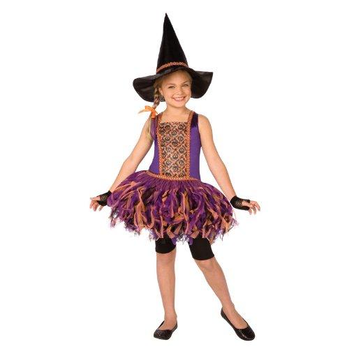 Coole Hexe ~ Hexenkostüm mit Tutu-Rock inkl. Hut und Handschuhe Gr. 146-158 = Größe - Coole Mit Tutus Halloween-kostüme