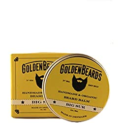 Organic Beard Balm - Big Sur - 30ml *Golden Beards* | 100% Natural | Jojoba & Argan & Apricot Oil by Golden Beards