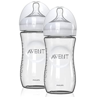 Avent 2-Pack Natural Slow Flow Glass Bottles (4 oz.) - colors as shown, one size