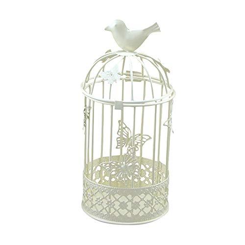 IEJSA Kerzenständer Schlafzimmer Wohnzimmer Hohlhalter Teelicht Kerzenständer Hängende Laterne Vintage Vogelkäfig Schmiede Drop Shipping June22 B