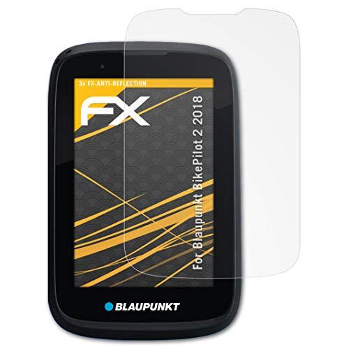 atFoliX Panzerfolie kompatibel mit Blaupunkt BikePilot 2 2018 Schutzfolie, entspiegelnde & stoßdämpfende FX Folie (3X)