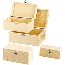 efco 1432667scatole di legno, 22x 14x 10,2cm, marrone