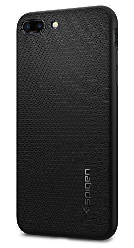 Spigen® - Funda para iPhone 7 Plus 2016 [Liquid Armor] duradera, flexible y de fácil agarre – Color negro
