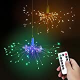 Luci Fatate Natalizie LED Fuochi d'Artificio Luci, Bawoo Luce Stringa 2 Kit 120 LED Luci Scintillio Fate...