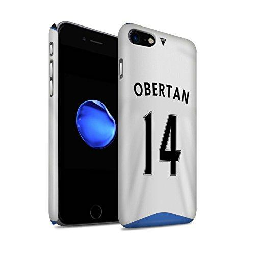 Officiel Newcastle United FC Coque / Clipser Matte Etui pour Apple iPhone 7 / Sissoko Design / NUFC Maillot Domicile 15/16 Collection Obertan