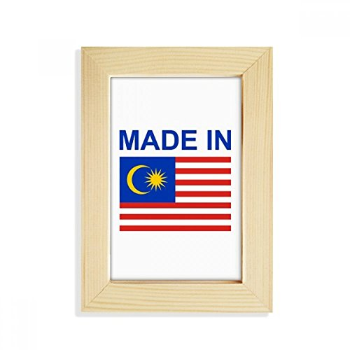 DIYthinker Hergestellt im Malaysia Land Liebe Desktop-HÖlz-Bilderrahmen Fotokunst-Malerei Passt 10.2 x 15.2cm (4 x 6 Zoll) Bild Mehrfarbig