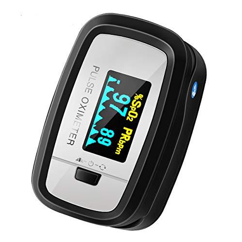 Mpow Pulsossimetro, Saturimetro da Dito Display OLED, 4 Girevoli Direzioni e 5 Luminositš€ Regolabili, Letture Immediate e Consecutive per Frequenza del Polso e La Saturazione di Ossigeno(SpO2)