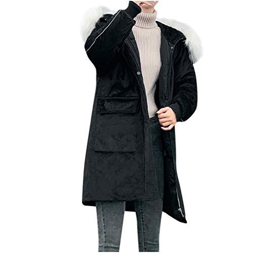 iFRich Donna Giacca Trapuntato Cappotti Inverno Spessore Caldo Cappotto Slim Fit con cappucciato di Pelliccia Ecologica