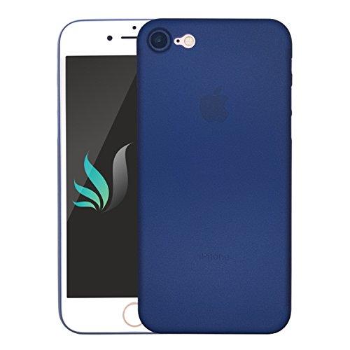 IPhone 8 / IPhone 7 Design Hülle Matt Darkblue dunkel-blau semi [transparent] i-Spring 0.35mm höchste Qualität Ultra dünn Passt perfekt Handy Schutzhülle Bumper Case 4.7 Zoll (Dunkelblau)