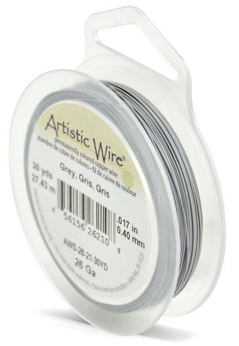 Artistic Wire Beadalon Fil de cuivre Calibre 26 27,43 m fil Gris