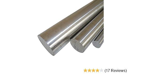 500 mm +0//-3 mm L/änge ca B/&T Metall Edelstahl Rund Drm 50 cm /Ø 16 mm 1.4305 blank gezogen h9