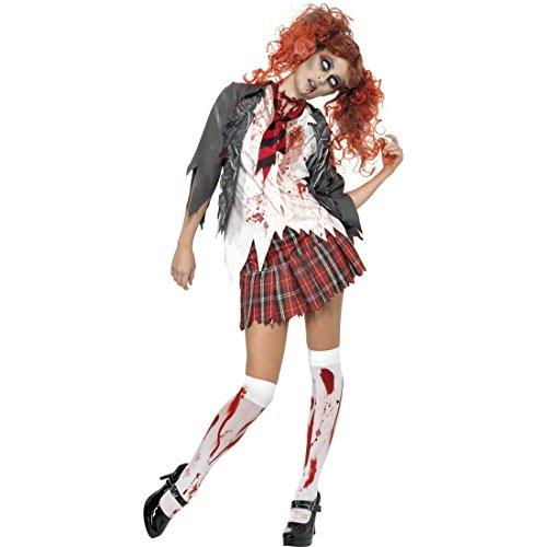 Nette Kostüm High School - Zombie Schulmädchen Kostüm L 44/46 High School Zombiekostüm Halloweenkostüm Damen Schulmädchenkostüm