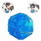 PEDOMUS Hundeball elastisch blinkend LED Ball springend aktiviert Licht Up Hund Ball Quietschball Hundespielzeug interaktiver Ball für Hunde