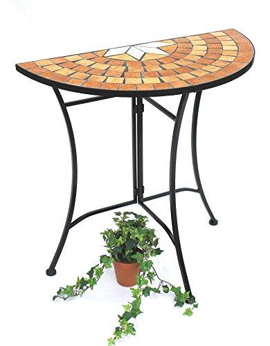 Metall Konsole Mit Tisch (DanDiBo Konsolentisch Merano Wandtisch 120041 Beistelltisch aus Metall und Mosaik 70 cm)