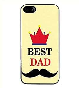 HiFi High Glossy Designer Phone Back Case Cover Apple iPhone 5S ( Best Dad Quotes Best Dad )