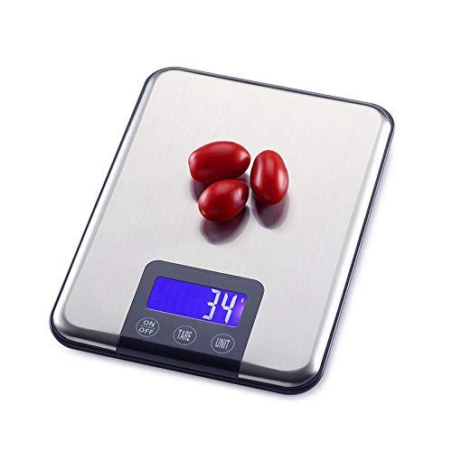 Gran rango 10 kg / 1 g El menor peso: 5 g Valor de división: 1 g Unidades: g, kg, ml Tamaño de la pantalla LCD: 56 * 24 mm Botón de arranque boot Tamaño de la plataforma 22.5 * 16.5 cm Tamaño: 225 * 165 * 17 mm  Peso del producto: 0.3 kg Rango de tol...