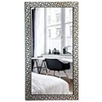 SEVEN HORSES Glass Wall Mirror (14.5 x 26.5 inch, White)
