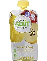 Good Goût Bio Purée de Fruits Pomme Coing 10 Gourdes de 120 g